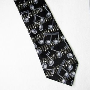 Music Notes Dress Tie